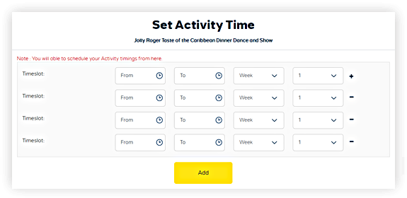 Set Times And Reminders For Each Day's Activities